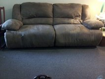 LARGE  97 INCH DOUBLE RECLINING SOFA in Cherry Point, North Carolina