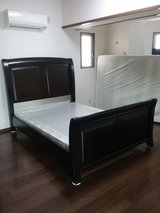 Queen size Bed frame & Box spring in Okinawa, Japan