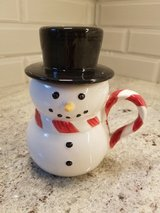 William Sonoma snowman mug with hat in St. Charles, Illinois