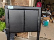 black leather twin size headboard in Saint Petersburg, Florida