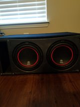 """2 12"""" 1800w Speakers, 1500w amp & ported box in Fort Campbell, Kentucky"""