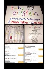 Baby Einstein DVD Set in Oceanside, California