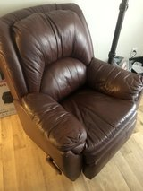 Brown Leather Recliner in Wilmington, North Carolina