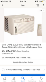 Two NEW Window ac units one small 99 and one big 169 in El Paso, Texas