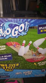 NEW H20 GO SLIDE & SPLASH BOWLING PINS OVER 3FT 18FT DOUBLE SLIDE in Fort Campbell, Kentucky