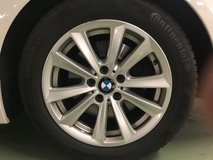 4 Original BMW alu rims with winter tires in Ramstein, Germany