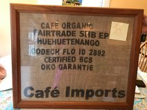 Framed coffee bag in Cherry Point, North Carolina