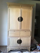 Blonde Solid Oak TV/Armoire in Camp Pendleton, California