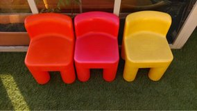 3 little tikes chairs in Lakenheath, UK