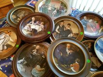 Norman Rockwell plate collection in Plainfield, Illinois