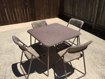 Card Table & 4 Chairs in Lackland AFB, Texas