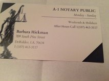 A-1 Notary Public in Fort Polk, Louisiana