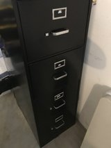 Executive Black file cabinet 4 drawers in Wheaton, Illinois