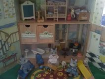 Calico critters ,and house suitcase with nice metal and some plastic furniture.etc... in Plainfield, Illinois