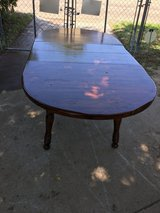 """solid wood table 83x41"""" 30"""" tall w/the two leafs in Fort Riley, Kansas"""