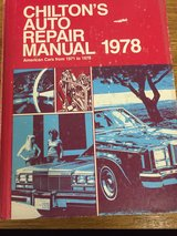 1978 Chilton Auto Repair Manual in Sandwich, Illinois