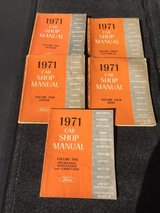 1971 Ford Complete 5 book set of Shop Manual collection in Sandwich, Illinois