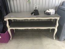 Grey and white painted accent table in Camp Lejeune, North Carolina