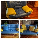 3 Piece Italian Leather Couches in Plainfield, Illinois