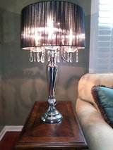Crystal Drop Table Lamp (by All the Rages) in Elgin, Illinois