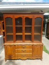Solid wood china hutch in Baytown, Texas