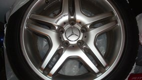"Mercedes S430 18"" Genuine AMG Front & Rear Wheel Rims in Bolingbrook, Illinois"