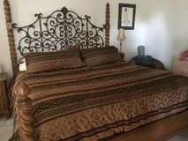 Iron & Wood King Bed frame from Heritage in Bolingbrook, Illinois