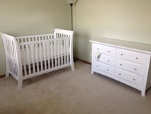 Nursery Crib and Dresser in Elgin, Illinois