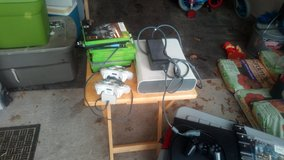 Xbox360 with controllers and games in Belleville, Illinois