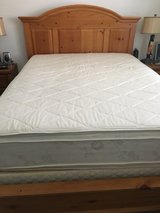Queen size mattress set with solid wood frame in Travis AFB, California