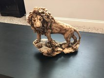 Lion Sculpted by hand in Camp Lejeune, North Carolina