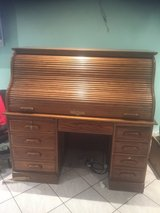 Antique looking Roll Top Desk- solid hard wood in Ramstein, Germany