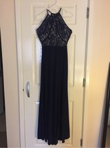 Navy Gown- Worn once in Lakenheath, UK