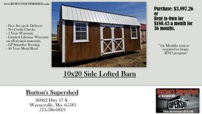 The Ultimate Back Yard Shed in Fort Leonard Wood, Missouri