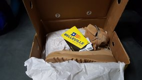 Belleville Steel Toe 10R Tan waterproof combat boots in Okinawa, Japan