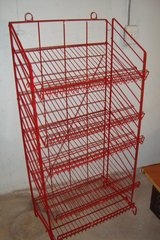 Tall Red Display Rack in Chicago, Illinois