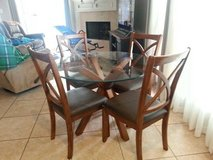 Glass Top Dining Table & Chairs in Conroe, Texas