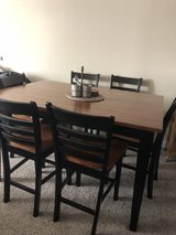Pub table with leaf and 6 chairs in Travis AFB, California
