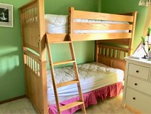 Solid Oak Twin Bunk Bed in Naperville, Illinois