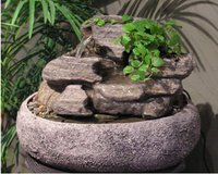 Table Fountain-Volcanic Rock in Aurora, Illinois
