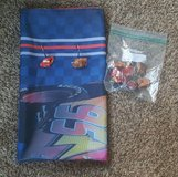 DISNEY CARS SHOWER CURTAIN WITH MATCHING HOOKS in Plainfield, Illinois