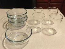 4 GLASSES AND 4 GLASS BOWLS in Plainfield, Illinois