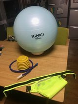 workout ball and running belt in Okinawa, Japan