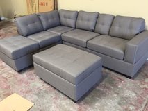 NEW! URBAN LINEN GREY SOFA CHAISE (REVERSIBLE) SECTIONAL WITH STORAGES!! in Vista, California