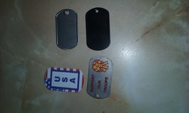 Government issue dog tags in Cherry Point, North Carolina