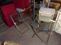 Set of Two Matching Glass Top End Tables in Fort Riley, Kansas