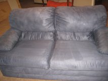 Gently Used Navy Blue Durasuede Loveseat and Chair in Camp Lejeune, North Carolina