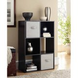 Mainstays 6 Cube Storage Organizer (Black) - NEW! in Naperville, Illinois