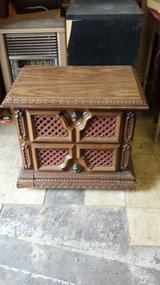 wood night stand in Bellaire, Texas