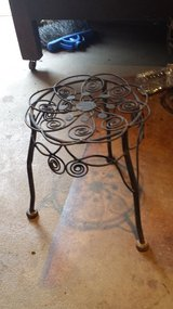 Antique plant stands in Bellaire, Texas